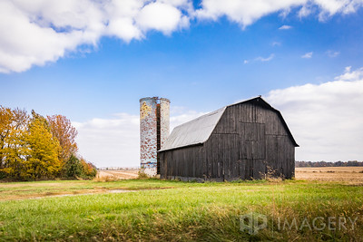 Barn and Painted Silo