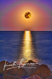 Full Moonrise, HDR, West Palm Beach, Florida