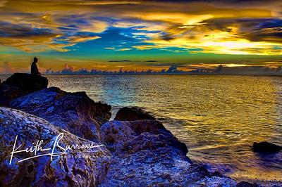 Sunset Fisherman, Sanibel/Captiva Islands, Florida
