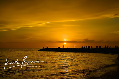 Blind Pass Golden Sunset, Captiva Island, Florida