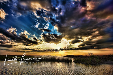 Spectacular Sunset Sky, (West of Palm Beach, Florida)