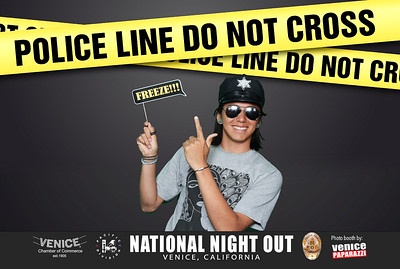 LAPD's National Night Out. Venice, California.  Photo Booth by Venice Paparazzi