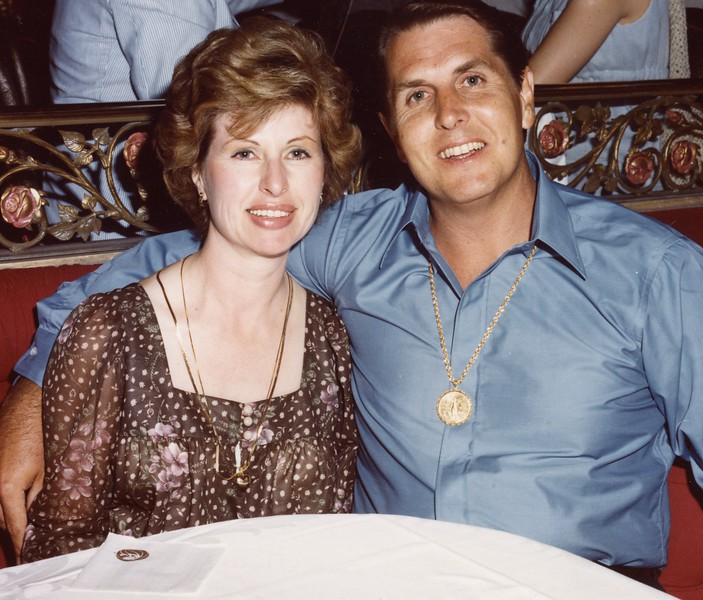 Tom and Betty at Ballys in Las Vegas on August 12, 1989