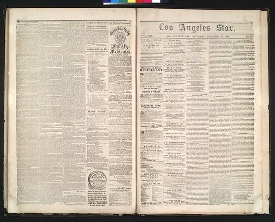 Los Angeles Star, vol. 8, no. 33 , December 25, 1858