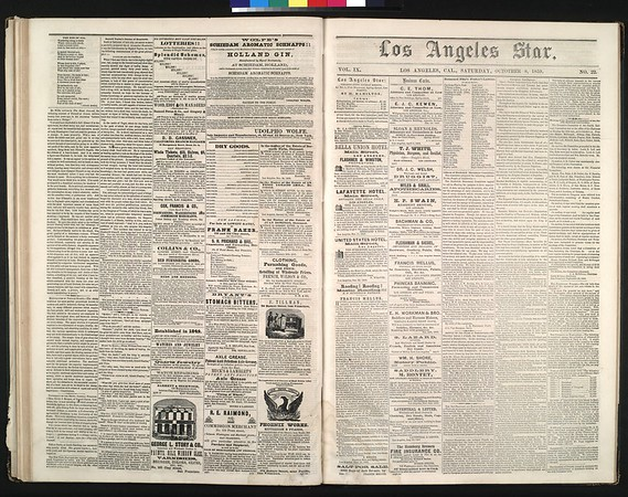 Los Angeles Star, vol. 9, no. 22 , October 8, 1859