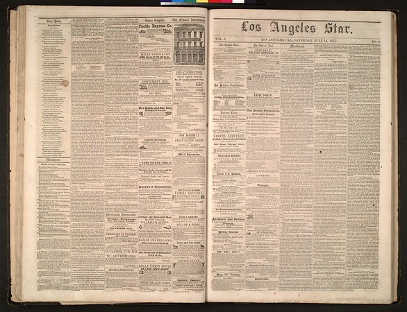 Los Angeles Star, vol. 5, no. 9, July 14, 1855