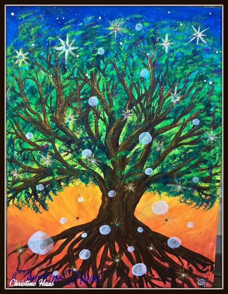 RAINBOW TREE WITH ORBS