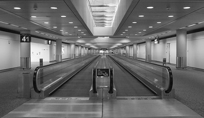 Travelator in Hong Kong airport taken in July 2010