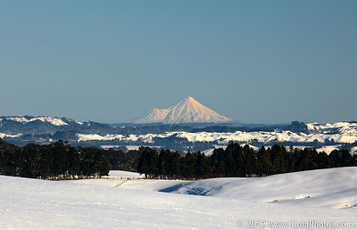 Snow fall in central North Island, New Zealand in July 2011. Photo: john.mathews@xtra.co.nz