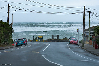 "Images of a ""Severe Weather Event"" in Wellington, New Zealand on 13 July 2017 bringing 10m waves, snow, torrential rain and wind gusts exceeding 150 kms per hour. Copyright: John mathews 2017.  www.megasportmedia.co.nz"