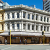 """Image of Stewart Dawsons Corner, Wellington, New Zealand taken on 6 November 2017 as part of an archival record before renovation work is undertaken by McKee-Fehl on behalf of the owners, Argosy Group.  Copyright: John Mathews 2017    <a href=""""http://www.megasportmedia.co.nz"""">http://www.megasportmedia.co.nz</a>"""