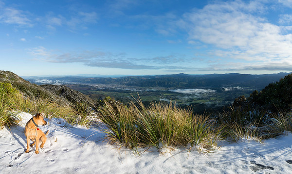 20180627 Ian on Mt Climie after southery storm _JM_2547-Pano
