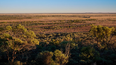 Very dry and mostly very flat land except the occasional little hill. Images taken just after sunrise.