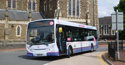 First Cymru 44504 - CU08ADV - Neath (Victoria Gardens)