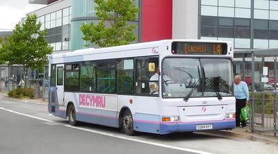 First Cymru 42607 - CU54HYT - Llanelli (bus station)