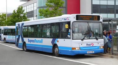 First Cymru 42963 - WX06OMW - Llanelli (bus station)