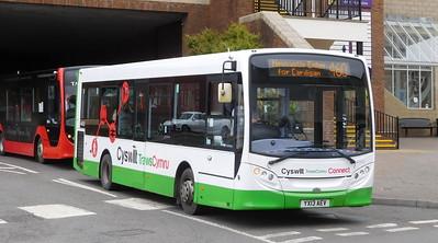 First Cymru 44552 - YX13AEV - Carmarthen (bus station)