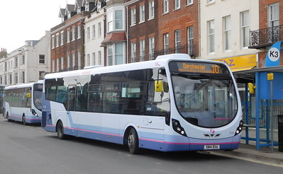 First Wessex 63182 - SN14DXA - Weymouth (King's Statue)