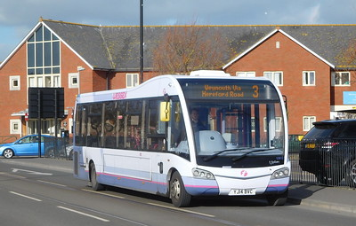 First Wessex 53612 - YJ14BVC - Weymouth (Commercial Road)