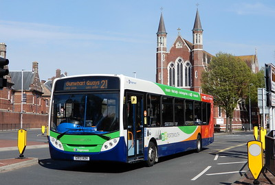 Stagecoach in Portsmouth 27863 - GX13AOH - Portsmouth (Queen St)