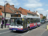 First in Bristol & Avon 42825 - S825WYD - Glastobury (town centre) - 30.7.14