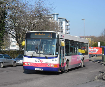 First Hants & Dorset 66181 - W381EOW - Cosham (Highbury Buildings) - 11.02.12