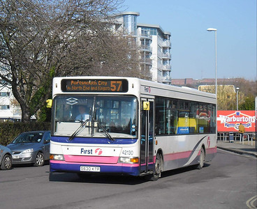 First Hants & Dorset 42130 - S630KTP - Cosham (Highbury Buildings) - 11.02.12