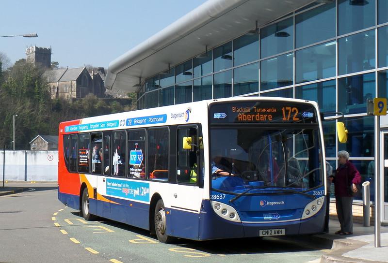 Stagecoach Cymru 28637 - CN12AWH - Bridgend (bus station)