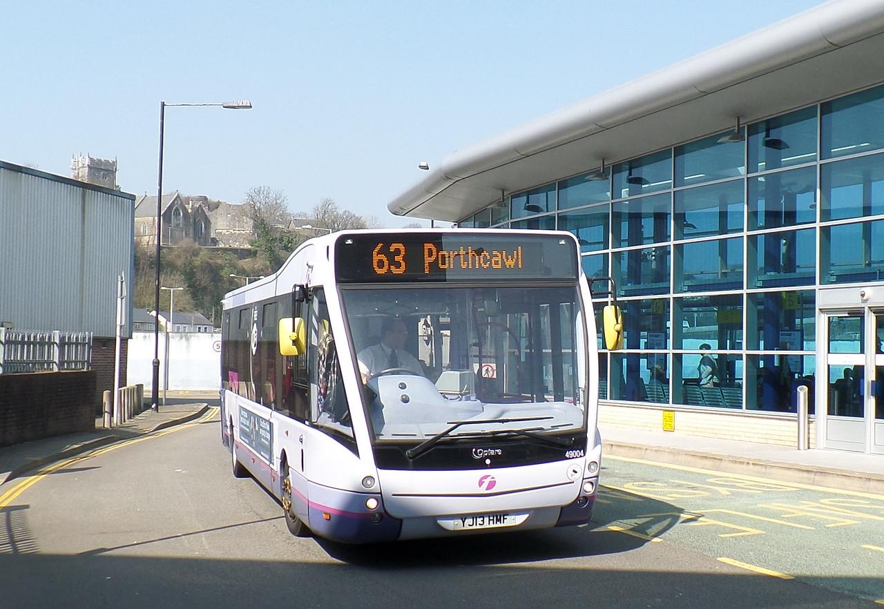 First Cymru 49004 - YJ13HMF - Bridgend (bus station)
