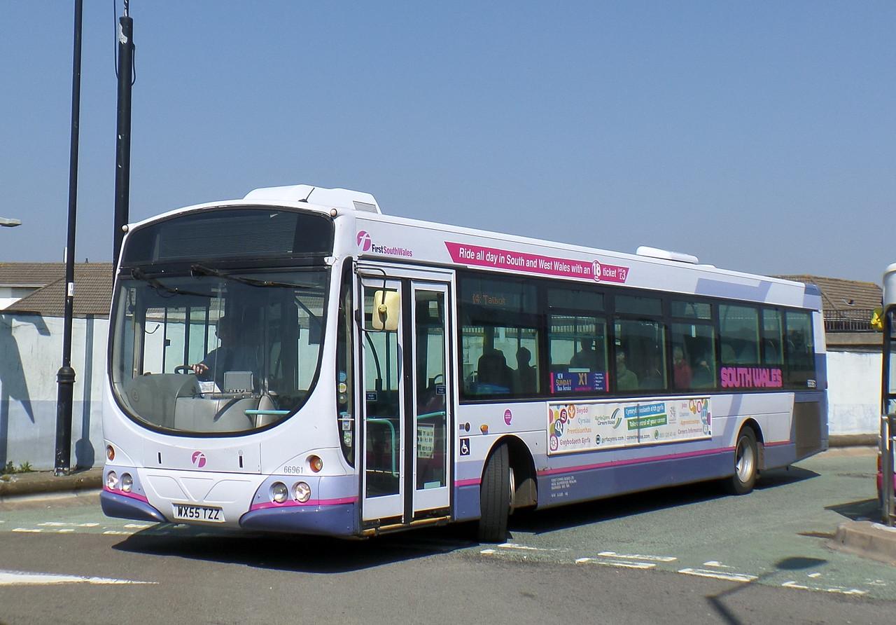 First Cymru 66961 - WX55TZZ - Bridgend (bus station)