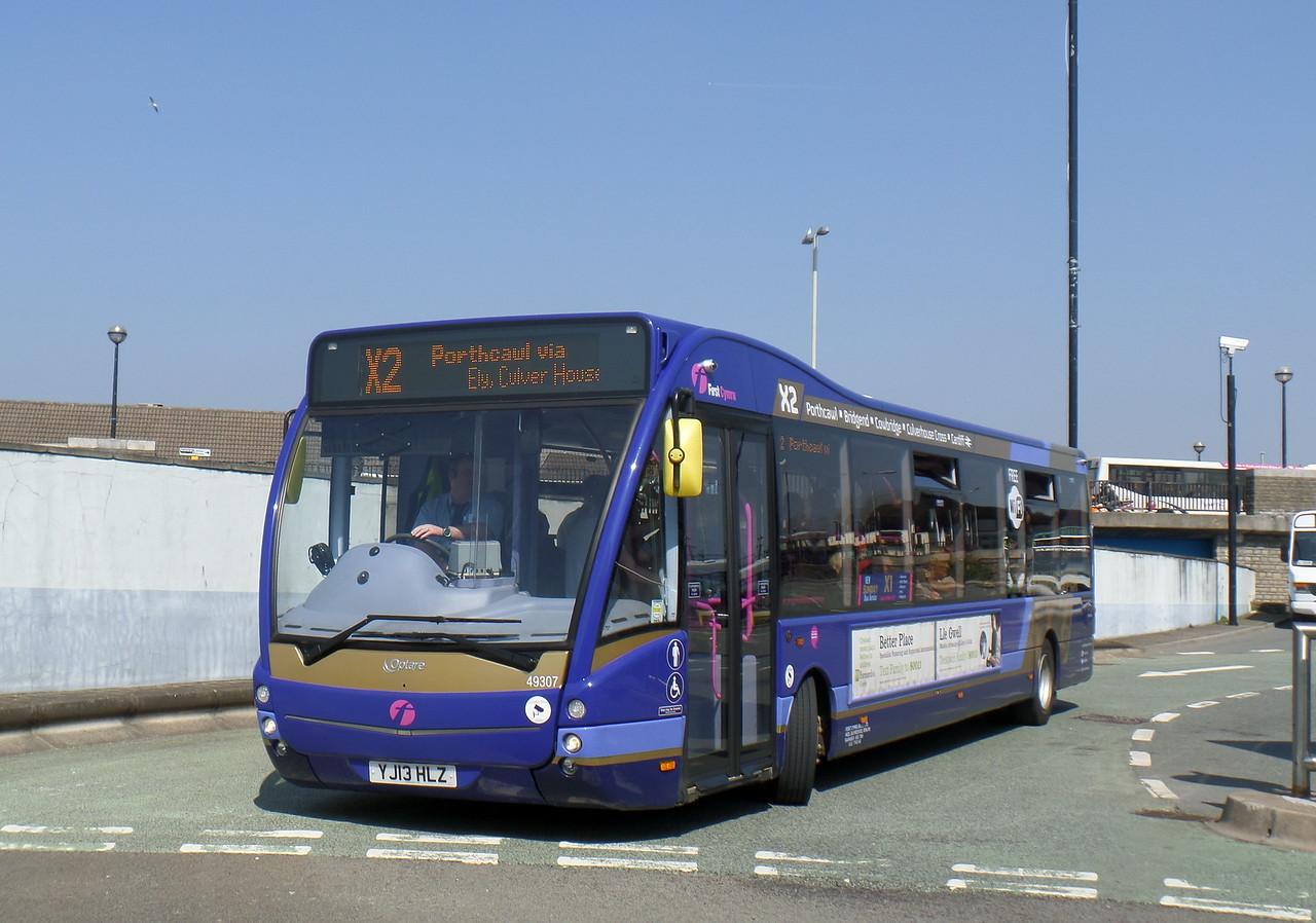 First Cymru 49307 - YJ13HLZ - Bridgend (bus station)