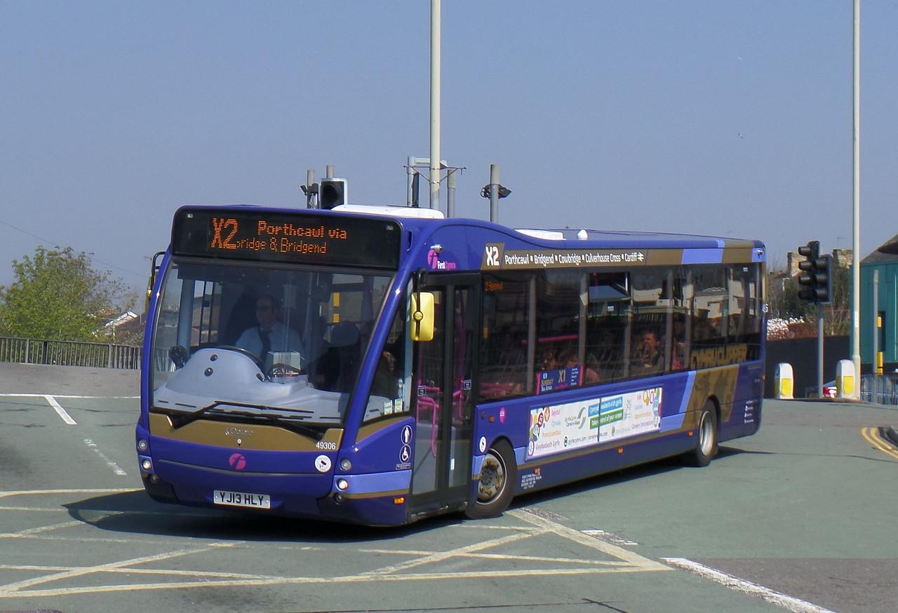 First Cymru 49306 - YJ13HLY - Bridgend (bus station)