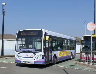 First Cymru 44570 - YX63LKU - Bridgend (bus station)