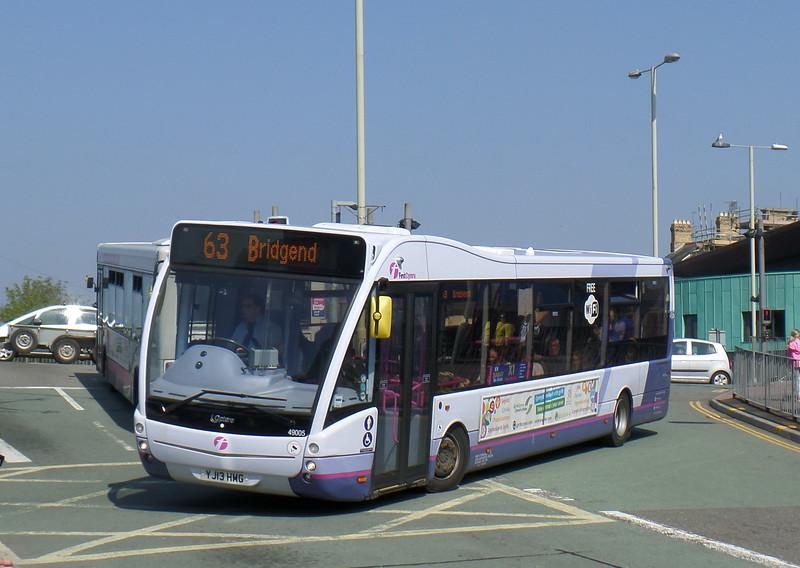 First Cymru 49005 - YJ13HMG - Bridgend (bus station)