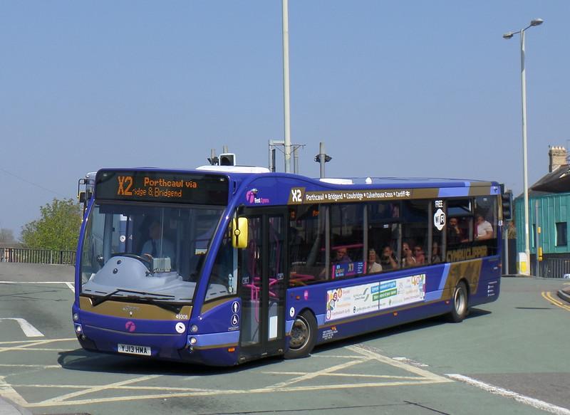 First Cymru 49308 - YJ13HMA - Bridgend (bus station)