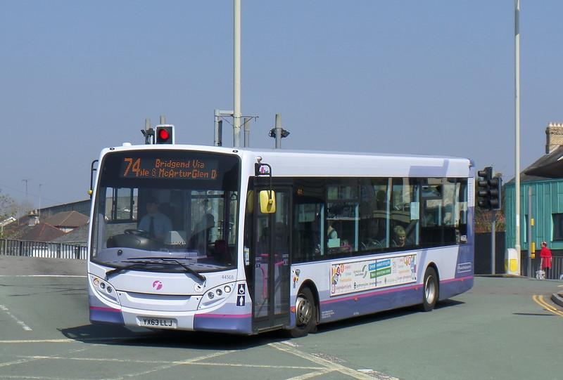 First Cymru 44568 - YX63LLJ - Bridgend (bus station)