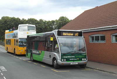 Norfolk Green 619 - X49VVY - Sheringham (NNR station/station approach) - 29.7.12