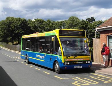 Norfolk Green 312 - YJ09EZU - Sheringham (NNR station/station approach) - 29.7.12