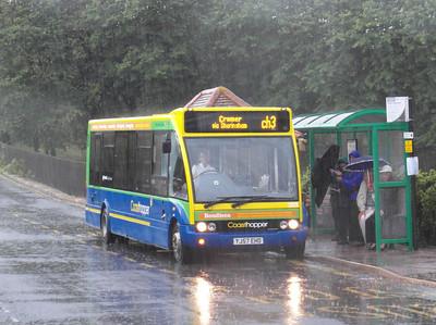 Norfolk Green 303 - YJ57EHO - Sheringham (NNR station/station approach) - 29.7.12