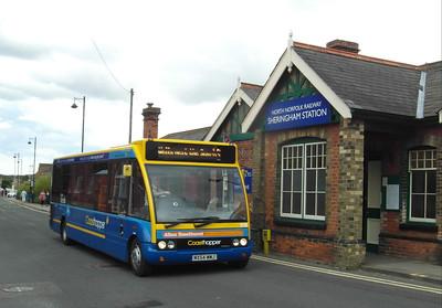 Norfolk Green 618 - MX54WMJ - Sheringham (NNR station/station approach) - 29.7.12