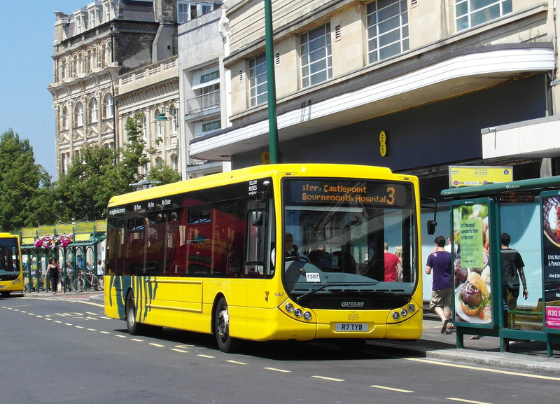 RATP Yellow Buses 7 - R7TYB - Bournemouth (Gervis Place) - 13.7.13