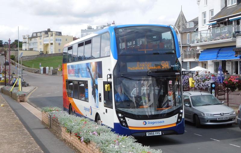 Stagecoach in Devon 10696 - SN66VVG - Seaton (Esplanade)