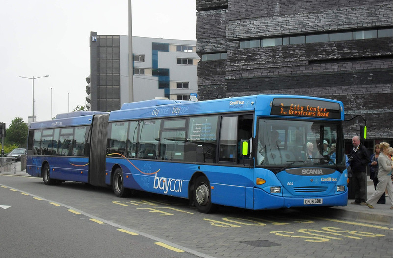 Cardiff Bus 604 - CN06GDK - Cardiff Bay (Millenium Centre) - 30.7.11