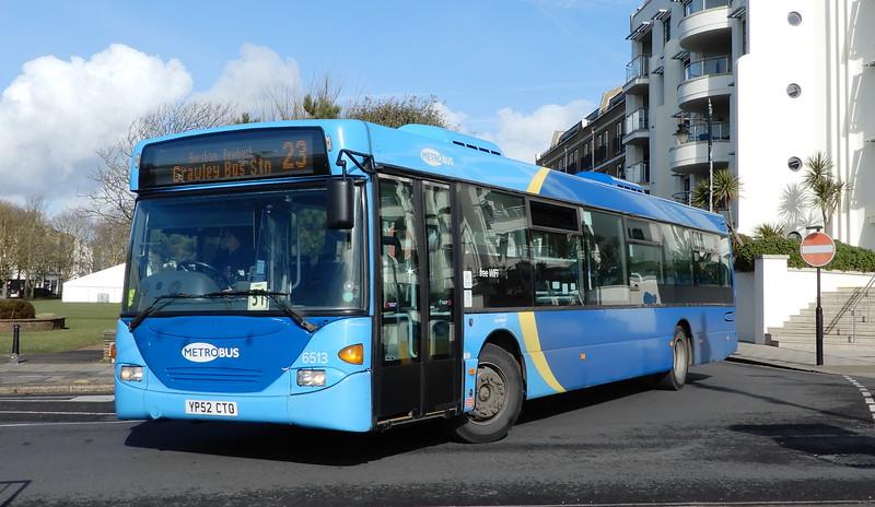 Metrobus 6513 - YP52CTO - Worthing (Marine Parade)