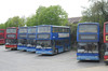Damory Coaches 1943, 1908, 1939, 1902 and 1927 - Ryde depot - 19.5.12