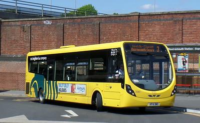 RATP Yellow Buses 861 - HF14BWO - Bournemouth (railway station)