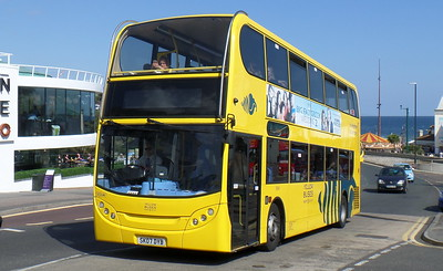 RATP Yellow Buses 186 - SK07DYB - Bournemouth (seafront)