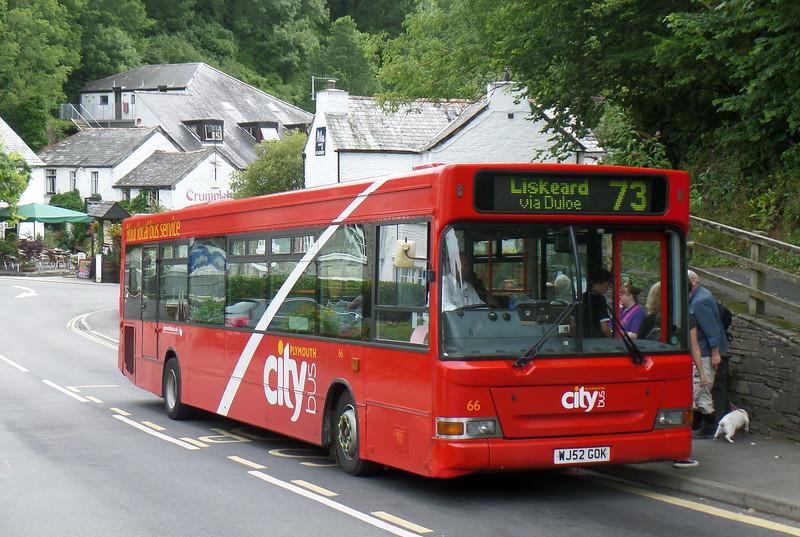Plymouth Citybus 66 - WJ52GOK - Polperro (Crumplehorn)