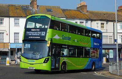 Brighton & Hove 943 - BX15ONV - Eastbourne (Memorial Roundabout)