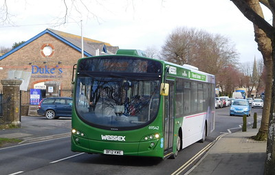 First Wessex 69542 - BF12KWE - Dorchester (Weymouth Avenue)